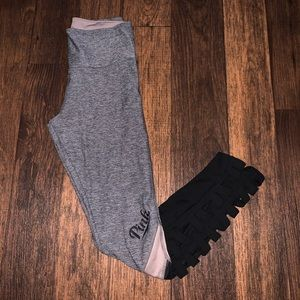 Pink | Grey Leggings Size Small